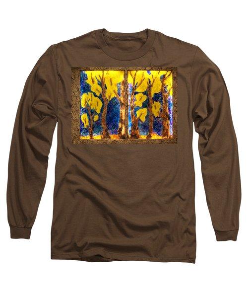 Trees Inside A Window Long Sleeve T-Shirt