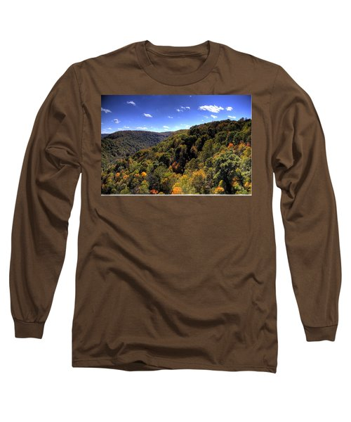 Trees Over Rolling Hills Long Sleeve T-Shirt by Jonny D