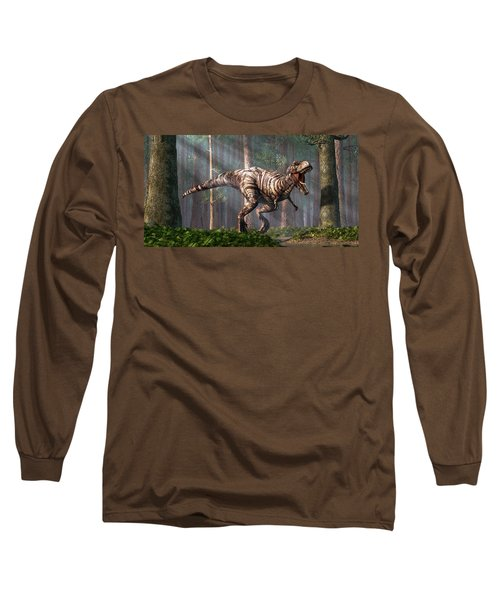 Trex In The Forest Long Sleeve T-Shirt