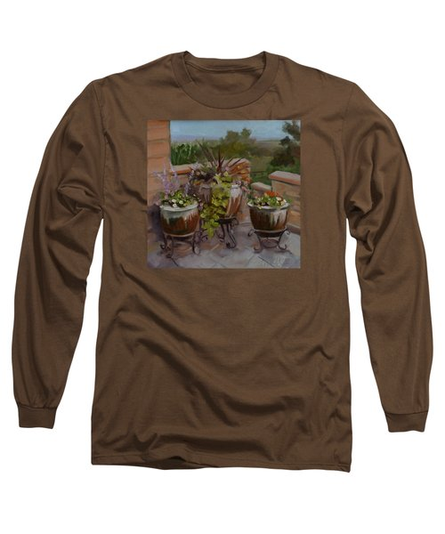 Trio Long Sleeve T-Shirt by Pattie Wall