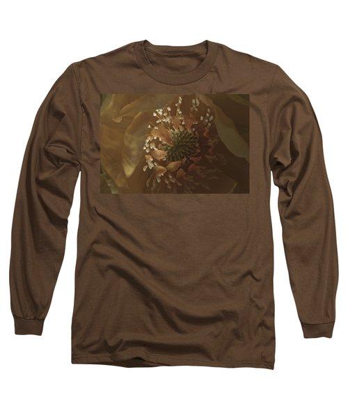 Long Sleeve T-Shirt featuring the photograph Trollius Stamen Macro by Sandra Foster