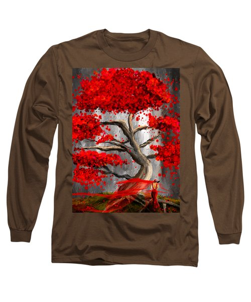 True Love Waits - Red And Gray Art Long Sleeve T-Shirt