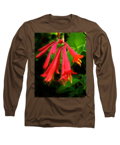 Wild Trumpet Honeysuckle Long Sleeve T-Shirt