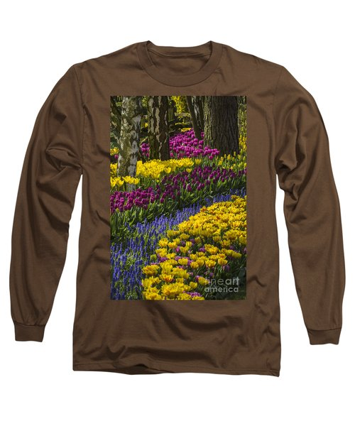 Tulip Beds Long Sleeve T-Shirt by Sonya Lang