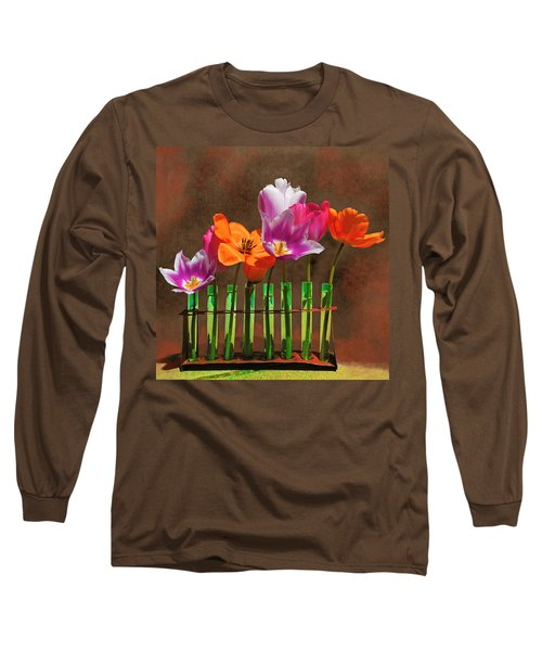 Tulip Experiments Long Sleeve T-Shirt by Jeff Burgess