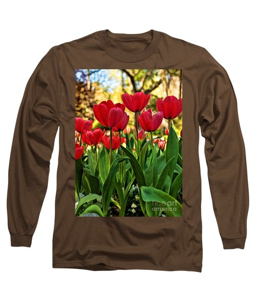 Tulip Time Long Sleeve T-Shirt by Peggy Hughes