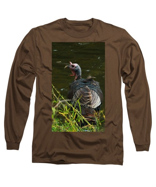 Turkey At Lake Long Sleeve T-Shirt