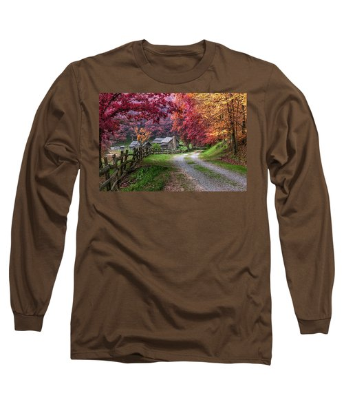 Twin Falls State Park Long Sleeve T-Shirt by Mary Almond