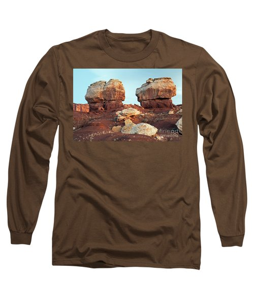Twin Rocks At Sunrise Capitol Reef National Park Long Sleeve T-Shirt