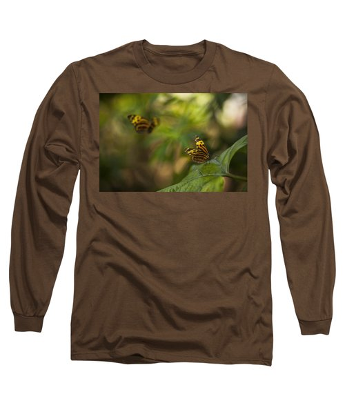 Two Butterflies Long Sleeve T-Shirt by Bradley R Youngberg