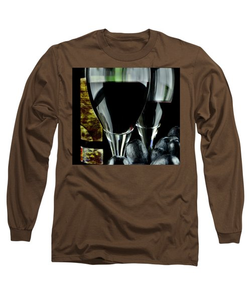 Two Glasses With Red Wine Long Sleeve T-Shirt
