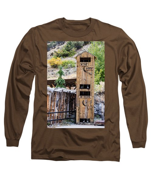 Long Sleeve T-Shirt featuring the photograph Two-story Outhouse by Sue Smith