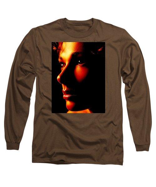 Two Tone Portrait Long Sleeve T-Shirt by Richard Thomas