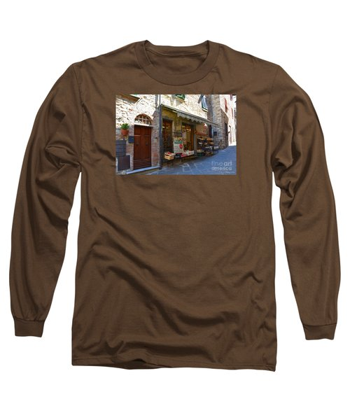 Long Sleeve T-Shirt featuring the photograph Typical Small Shop In Tuscany by Ramona Matei