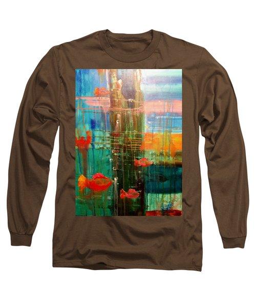 Under The Dock Long Sleeve T-Shirt by Renate Nadi Wesley