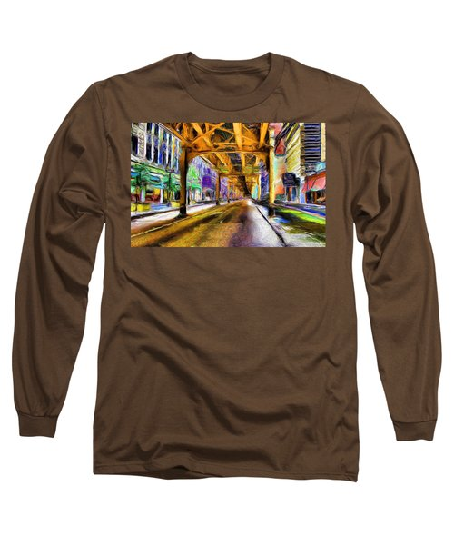Under The El - 20 Long Sleeve T-Shirt by Ely Arsha