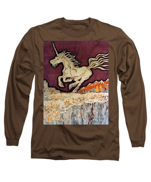 Unicorn Above Chasm Long Sleeve T-Shirt