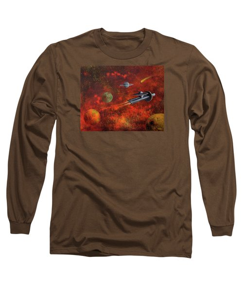 Unidentified Flying Object Long Sleeve T-Shirt by Randy Burns