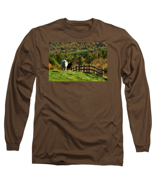 Long Sleeve T-Shirt featuring the photograph Up The Hill by Joan Davis