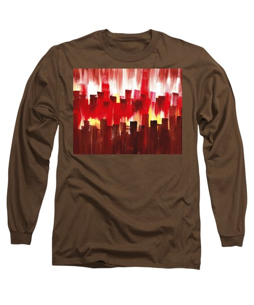 Urban Abstract Evening Lights Long Sleeve T-Shirt by Irina Sztukowski