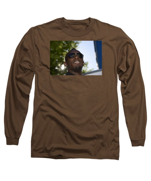 Long Sleeve T-Shirt featuring the photograph Usain Bolt - The Legend 1 by Teo SITCHET-KANDA