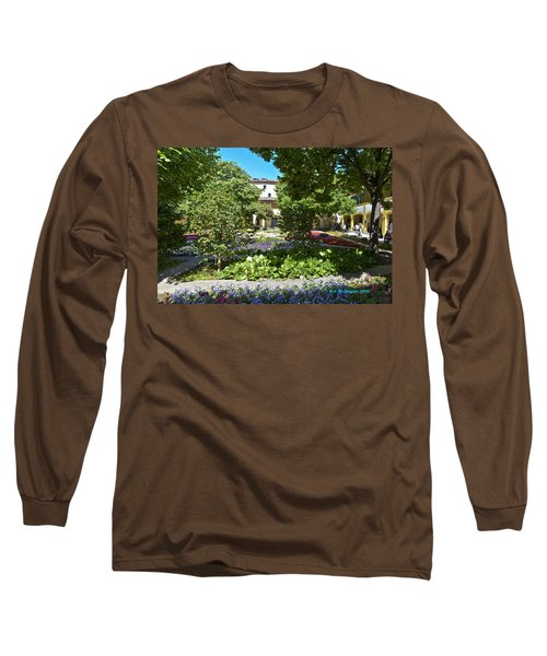 Long Sleeve T-Shirt featuring the photograph Van Gogh - Courtyard In Arles by Allen Sheffield