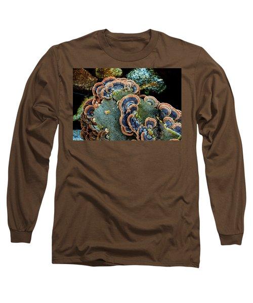 Long Sleeve T-Shirt featuring the photograph Velvet Wild Mushrooms  by Jerry Cowart