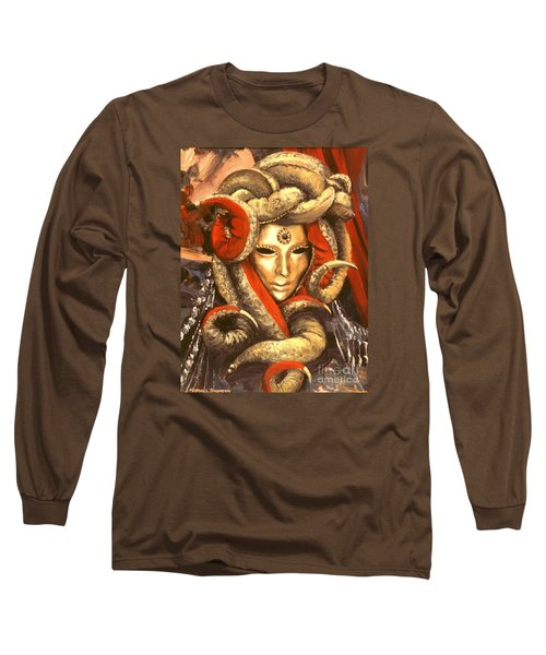 Long Sleeve T-Shirt featuring the painting Venetian Mystery Mask by Michael Swanson