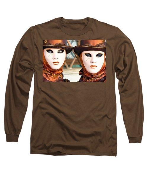 Venice Masks - Carnival. Long Sleeve T-Shirt by Luciano Mortula