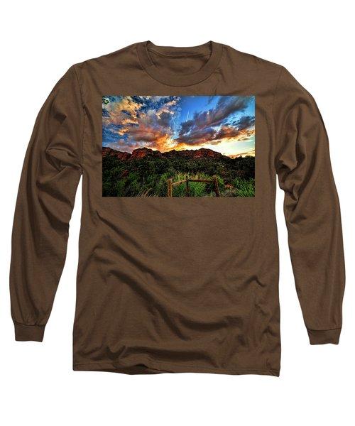 View From The Fence  Long Sleeve T-Shirt by Saija  Lehtonen