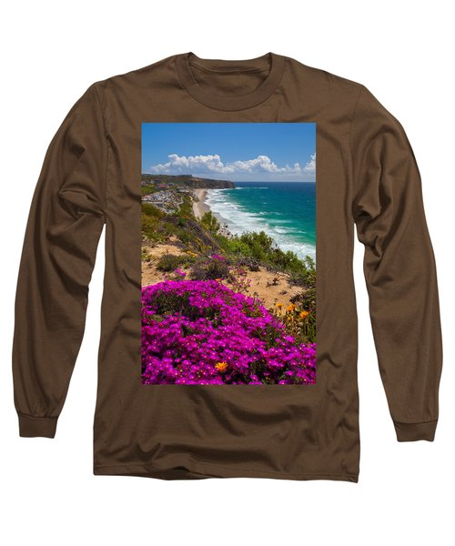 View Of Strand Beach And Dana Point Headland Long Sleeve T-Shirt