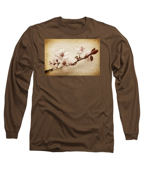 Vintage Blossoms Long Sleeve T-Shirt by Caitlyn  Grasso