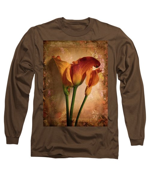 Vintage Calla Lily Long Sleeve T-Shirt