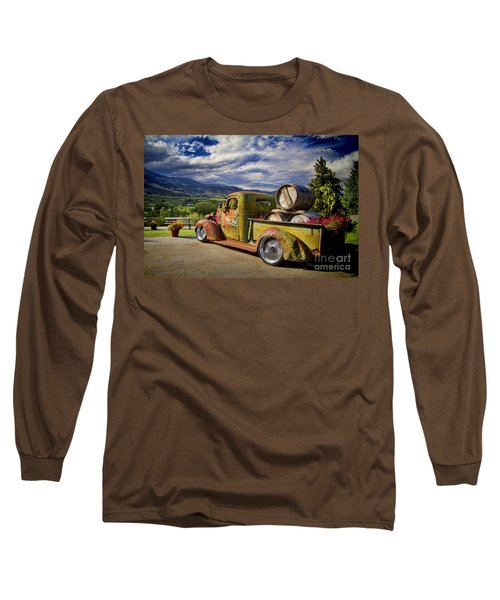 Vintage Chevy Truck At Oliver Twist Winery Long Sleeve T-Shirt