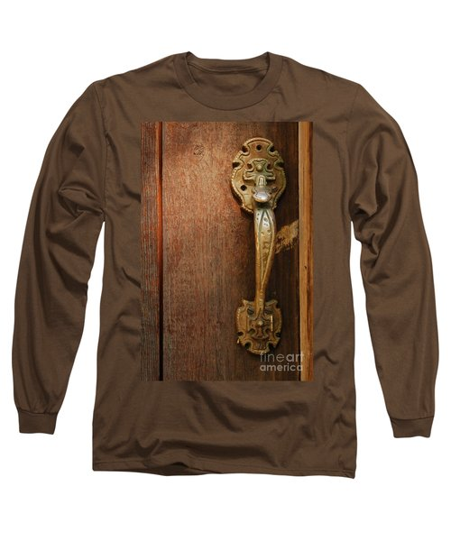 Vintage Door Handle Long Sleeve T-Shirt by Patrick Shupert