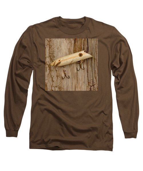 Vintage Fishing Lure Long Sleeve T-Shirt by Art Block Collections