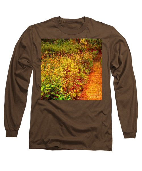 Long Sleeve T-Shirt featuring the photograph Vintage Garden Path by Terri Gostola