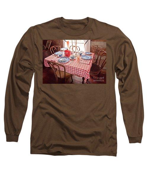 Vintage Kitchen Table Art Prints Long Sleeve T-Shirt