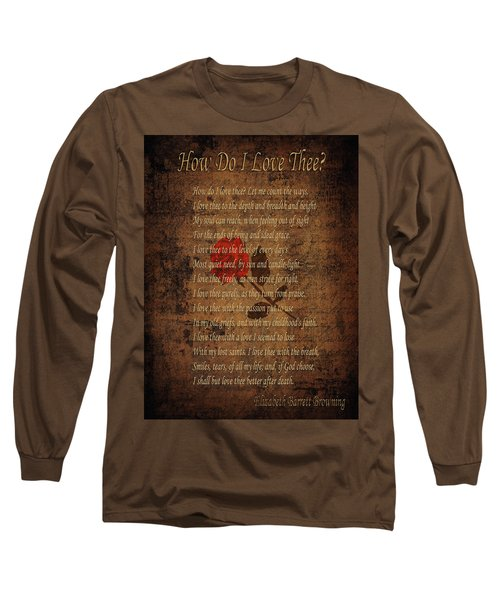 Vintage Poem 4 Long Sleeve T-Shirt