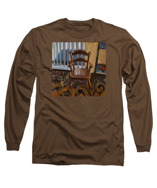 Long Sleeve T-Shirt featuring the painting Vintage Rocker by Pattie Wall