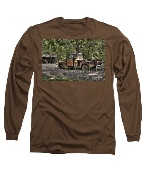 Vintage Rust Long Sleeve T-Shirt by Benanne Stiens