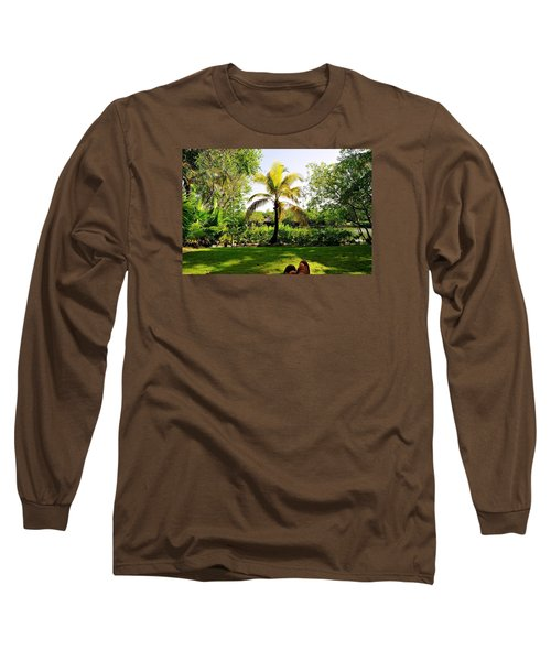 Long Sleeve T-Shirt featuring the photograph Visiting A Mayan Trail by Kicking Bear  Productions