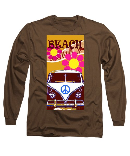 Vw Beach  Tan Long Sleeve T-Shirt