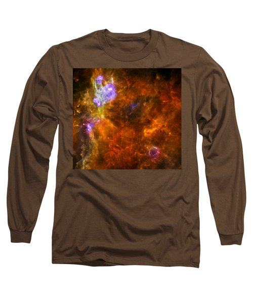 Long Sleeve T-Shirt featuring the photograph W3 Nebula by Science Source