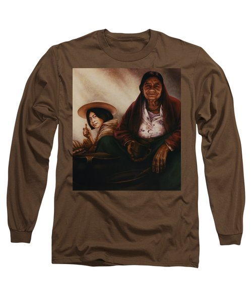 Waiting For The Sunset Long Sleeve T-Shirt by Yvonne Wright