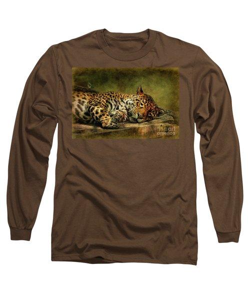 Wake Up Sleepyhead Long Sleeve T-Shirt by Lois Bryan