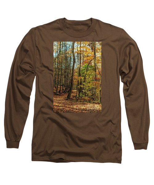 Long Sleeve T-Shirt featuring the photograph Walking The Mountain Trail by Debbie Green