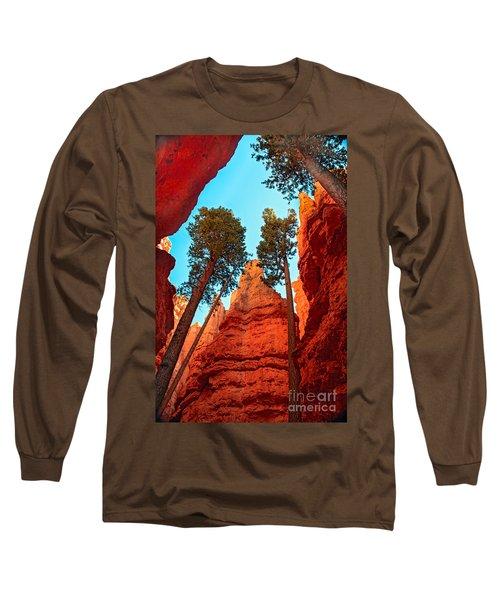 Wall Street Long Sleeve T-Shirt by Robert Bales