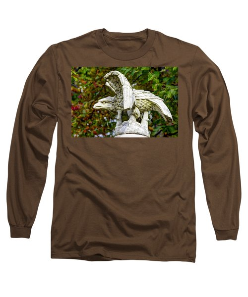 Long Sleeve T-Shirt featuring the photograph War Eagles - Vermont Company F 1st U. S. Sharpshooters Pitzer Woods Gettysburg by Michael Mazaika