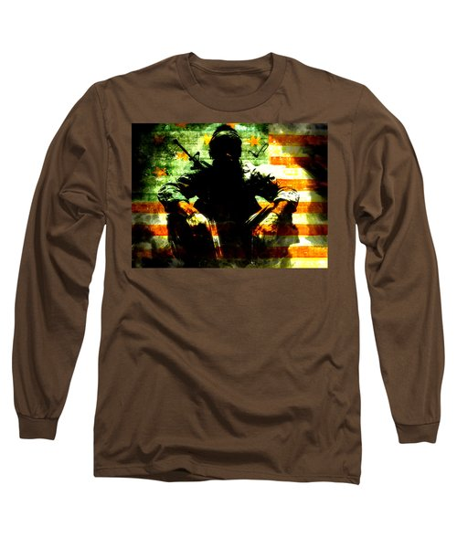 Long Sleeve T-Shirt featuring the painting War Is Hell by Brian Reaves